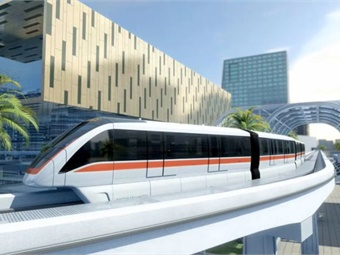The driverless Innovia 300 monorail system.