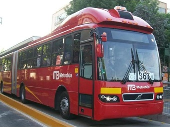 Mexico City BRT system. Photo: Pedro Jimenez