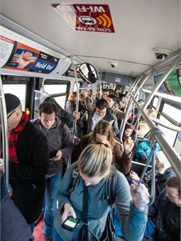 Transit is used for an estimated 5% of commuting trips in the U.S., making it the second most widely used commute mode after driving.