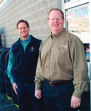 Ron, left, and Wendel Burt have grown Burt Brothers Tire & Service into a nine-store, $36 million operation based in the greater Salt Lake metro area in Utah along the Wasatch Front. Wendel began his career with Goodyear in 1977.
