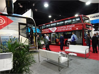 BYD unveiled its new 45-foot electric bus alongside several offerings.