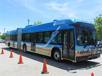 BYD's 60-foot articulated bus for AVTA.
