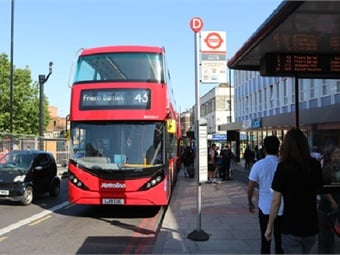 BYD ADL Enviro400EV pure-electric double-deck bus for Metroline's Route 43, in London.