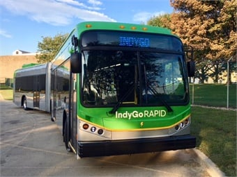Momentum Dynamics' technology will help power IndyGo's 60-foot electric buses on the Red Line rapid transit route through on-route charging.BYD