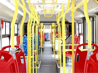 With a passenger capacity of 250 people, the electric bus can travel at a maximum speed of 43 mph.