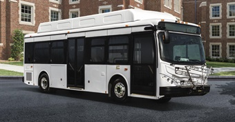 BYD's battery-electric K7M public transit bus will be traveling the streets of Los Angeles, generating zero emissions. (photo: BYD)