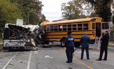 The NTSB issued an urgent recommendation for an audit of Baltimore City Public Schools' transportation department, and two other recommendations that aim to strengthen the driver qualification process. Photo courtesy Maryland Transportation Authority Police