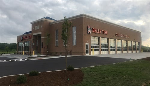The Belle Tire store in Columbus, Ind., opened in early May 2019. The company has built 25 stores in Indiana since expanding into the state in 2015.