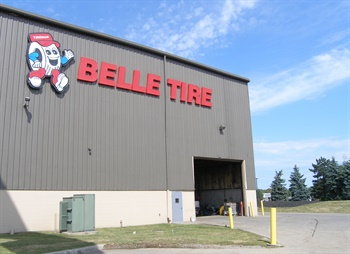 Allen Park, Mich.-based Belle Tire is merging its commercial division with Tredroc Tire Services Inc., based in Antioch, Ill. Belle Tire's commercial outlet and retread shop near Cleveland, Ohio, is pictured.
