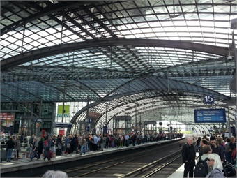 Berlin Hauptbahnhof (Main) station. All Photos by Giles Bailey