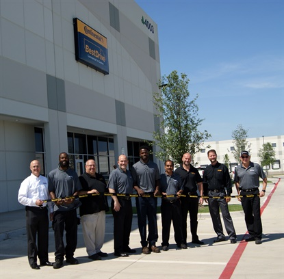 BestDrive employees at the new Grand Prairie, Texas, retread shop and service center celebrated the location's grand opening on May 10, 2018.