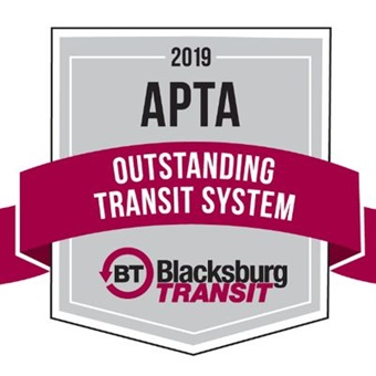Va.-based Blacksburg Transit (BT) has earned the American Public Transportation Association's 2019 Outstanding Transit System award for North America.