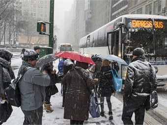 Storm Juno on January 26, 2015. Photo: Metropolitan Transportation Authority / Patrick Cashin.