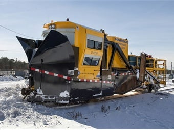 "This spreader-ditcher, nicknamed ""Darth Vader,"" is part of Long Island Rail Road's snow jets in it's snow fighting fleet. Photo: Metropolitan Transportation Authority / Patrick Cashin"