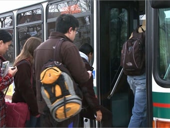 Whether students realize it or not, the most important service campus shuttles provide is safety. Photo: RATP Dev USA