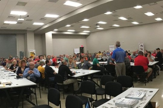 More than 110 transportation personnel and district officials attended the Ohio stop of the Blue Bird Experience tour, which offered educational sessions and ride-and-drives.