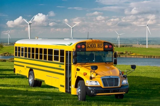 As with the previous model, Blue Bird's Vision Gen 4 Propane bus runs on a Ford/ROUSH CleanTech powertrain.