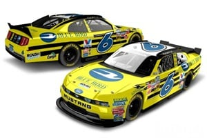 """The bright yellow Ford Mustang will definitely stand out on the track,"" says Stenhouse, who is being sponsored by Blue Bird and ROUSH CleanTech at the Chicagoland Speedway on Saturday."