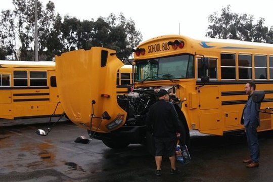 At a Product Immersion Tour stop in California, transportation officials checked out the latest offerings from Blue Bird, Micro Bird, and their component suppliers.