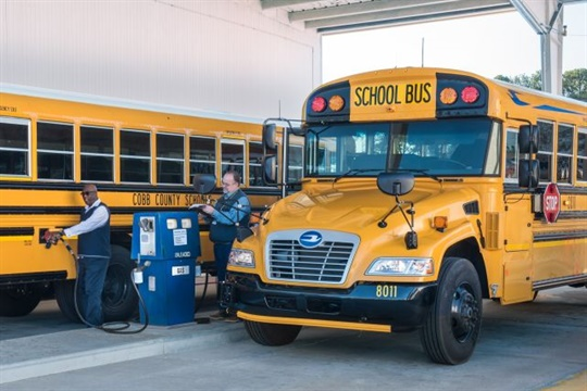 Blue Bird Vision Gasoline School Bus Certified by EPA, CARB