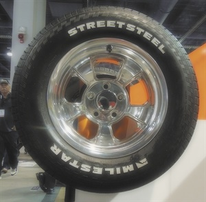 The Milestar Streetsteel will be available in 10 sizes with raised white letters.