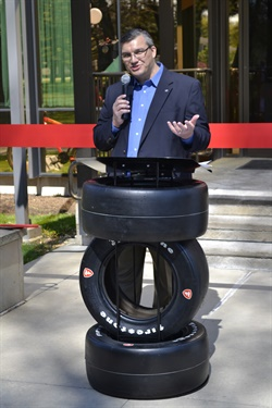 """It is this building that is the hub of everything we process,"" said acting Chief Information Officer Rob Olds at the grand re-opening of the Bridgestone Akron Data Center."