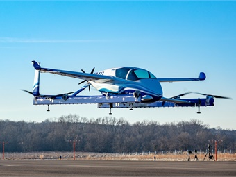 Powered by an electric propulsion system, Boeing's PAV prototype is designed for fully autonomous flight from takeoff to landing. Boeing