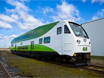Bombardier BiLevel railcar for GO Transit.