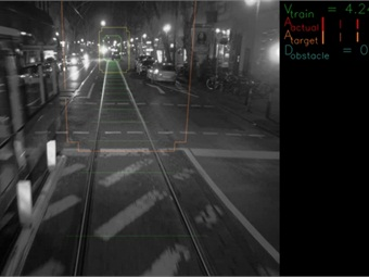 The system uses a network of stereovision cameras to identify and track the movement of objects on or near a tram's path. Photo: Bombardier Transportation