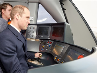 HRH Duke of Cambridge, test drove a train and met employees during official visit to Bombardier's Derby manufacturing site.