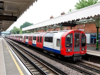 A London Underground Central line train to be powered by new Bombardier Transportation propulsion technology. Photo courtesy of Bombardier Transportation.