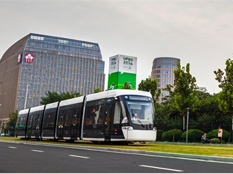 Bombardier's catenary-free tram powered by Primove batteries was put into passenger operations in August 2014, to support the Second Summer Youth Olympic Games.