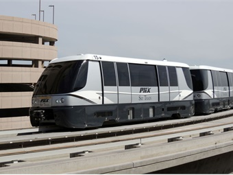 Bombardier-built PHX Sky Train® automated people mover (APM) system at Phoenix Sky Harbor International Airport. Photo: Bombardier