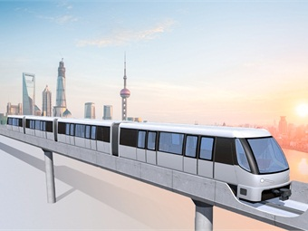 Rendering of Bombardier automated people mover system for Shanghai.