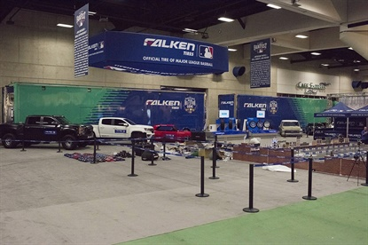 During FanFest fans can take part in the social media photo experience and multiple Falken Tires product displays.