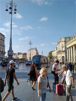 Mixed use square in central Bordeaux. All photos courtesy Giles Bailey
