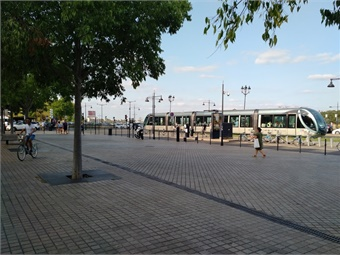 Trams along the waterfront in central Bordeaux. Photos courtesy Giles Bailey