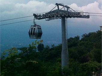 A gondola system in Turkey. Alicandemir