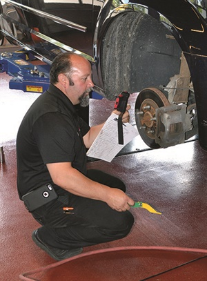 Corrosion or lack of lubrication in mechanical braking components can affect a vehicle's active braking systems.
