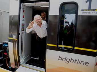 Richard Branson unveiled Virgin MiamiCentral and revealed the first visuals for Virgin Trains USA.Photos courtesy Virgin Trains USA