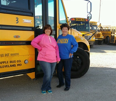 A story about Brenda Thoman, a Missouri school bus driver who retired after 52 years (shown right), received the third-highest number of likes and reactions on SBF's Facebook.