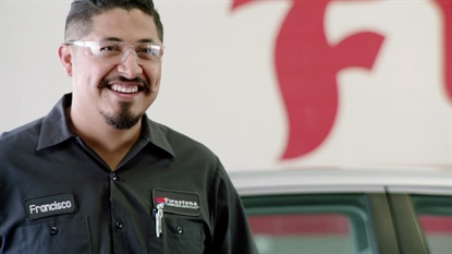 A new ad campaign is highlighting the personalities of technicians at Firestone Complete Auto Care stores.