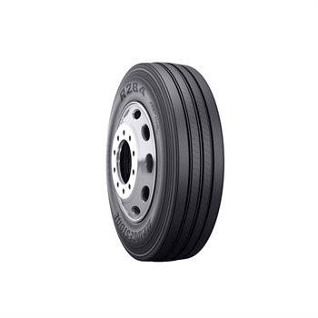 The R284 Ecopia tire is designed to be fuel efficient with a long tread life for long haul and regional truck applications.