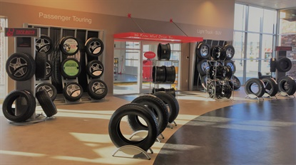Bridgestone says it works with a number of external retail design partners to create leading retail experiences for its dealer network, and for its network of company-owned stores.
