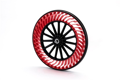 Bridgestone will showcase its lineup of airless tires at next month's Consumer Electronics Show.