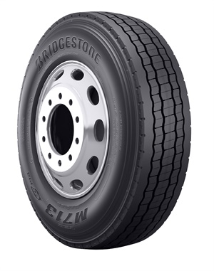 Features of the Bridgestone M713 Ecopia tire include 3D siping to provide 130% more biting edges, which help increase traction across many road and weather conditions, and three-peak mountain snowflake certification.