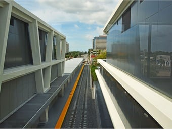 Brightline tracks adjacent to the station. Photo: Brightline