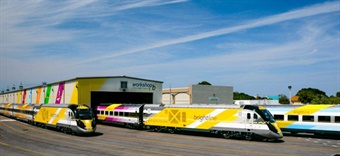 Brightline trains were manufactured by Siemens. Photo: Brightline