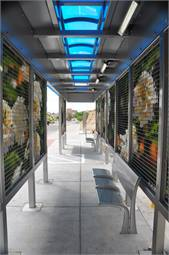 <p>The majority of the stations will feature public artwork that is collectively known as