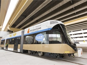 The American designed and manufactured Hop Liberty Streetcars are being delivered as part of a November 2015 contract between Brookville and the City of Milwaukee. Photo: Brookville